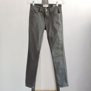 Frame Le Skinny De Jeanne Gray Jeans Size 25